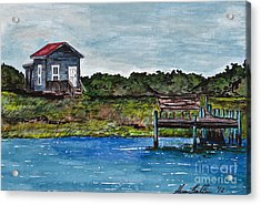 House By The Sea Acrylic Print by Sheena Pape