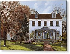 house Du Portail  Acrylic Print by Guido Borelli