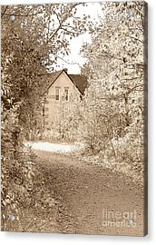 House In Autumn Acrylic Print by Blink Images