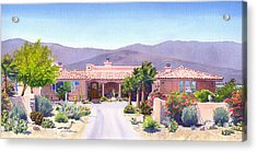 House In Borrego Springs Acrylic Print by Mary Helmreich