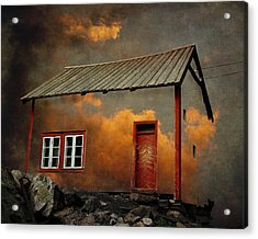 House In The Clouds Acrylic Print by Sonya Kanelstrand