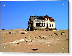 Acrylic Print featuring the photograph House In The Desert by Riana Van Staden