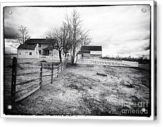 House In The Field Acrylic Print by John Rizzuto