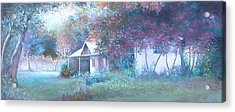 House In The Woods Acrylic Print by Jan Matson