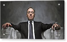 Acrylic Print featuring the painting House Of Cards Artwork by Sheraz A