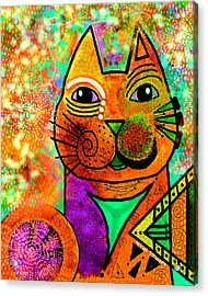 House Of Cats Series - Blinks Acrylic Print by Moon Stumpp