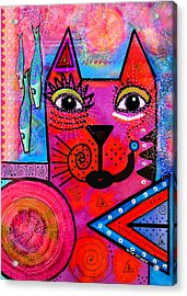 House Of Cats Series - Tally Acrylic Print by Moon Stumpp