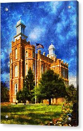 Acrylic Print featuring the digital art House Of Learning by Greg Collins