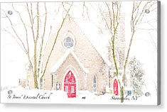 Acrylic Print featuring the photograph O Come All Ye Faithful by Margie Amberge