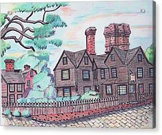 House Of Seven Gables Acrylic Print by Paul Meinerth