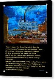 House Of The Rising Sun Acrylic Print