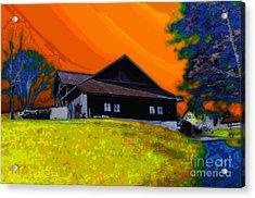 House On A Hill Acrylic Print