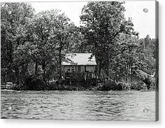 House On An Island Acrylic Print by Thomas Fouch