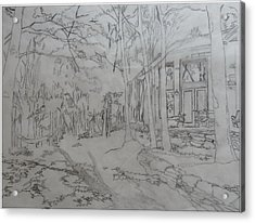 House On Grandmother Mountain Acrylic Print by Joel Deutsch