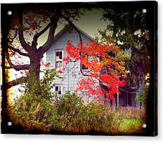 House On Hill 2 Acrylic Print by Michael L Kimble