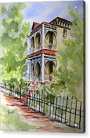 House On Spring Street Acrylic Print by Sam Sidders