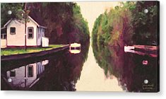 House On The C And O Canal Acrylic Print by Spyder Webb