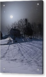 Acrylic Print featuring the photograph House On The Hill by Larry Landolfi