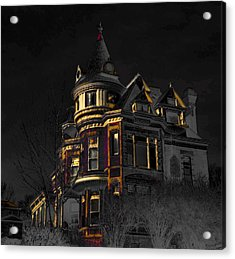 House On The Hill Acrylic Print by Liane Wright