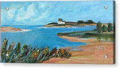 House On The Point Acrylic Print by Betty Pieper