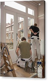 House Painters At Work Acrylic Print