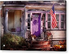 House - Porch - Cranford Nj - Lovely In Lavender  Acrylic Print by Mike Savad