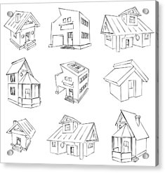 House Sketch Set Acrylic Print by Ioan Panaite