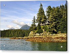 Acrylic Print featuring the photograph House Upon A Rock by Cathy Mahnke