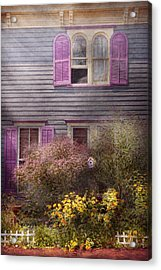House - Victorian - A House To Call My Own  Acrylic Print by Mike Savad