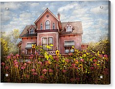 House - Victorian - Summer Cottage  Acrylic Print by Mike Savad