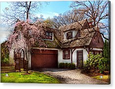 House - Westfield Nj - Who Doesn't Love Spring  Acrylic Print by Mike Savad