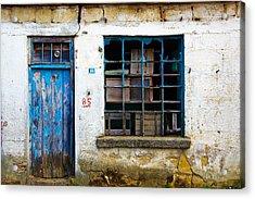 Housefront Turkey Acrylic Print by Tarkan Rosenberg