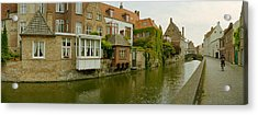 Houses Along A Channel, Bruges, West Acrylic Print