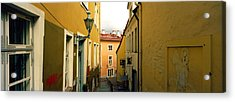 Houses Along A Street, Toompea Hill Acrylic Print by Panoramic Images