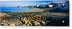 Houses Along The Beach, Rockport Acrylic Print by Panoramic Images