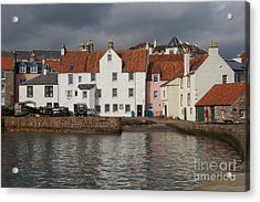 Houses At Pittenweem Harbor Acrylic Print