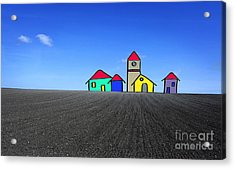 Houses. Field Concept Acrylic Print