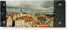 Houses In A Town, Tallinn, Estonia Acrylic Print by Panoramic Images