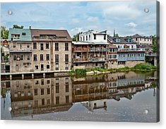 Acrylic Print featuring the photograph Houses In Elora Ontario by Marek Poplawski