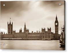 Houses Of Parliament And Elizabeth Tower In London Acrylic Print by Semmick Photo