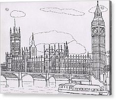 Houses Of Parliament Acrylic Print by Bav Patel