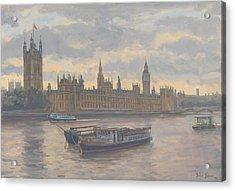 Houses Of Parliament Acrylic Print by Julian Barrow