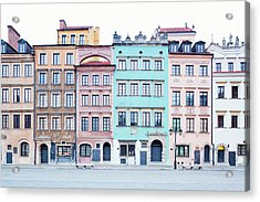 Houses On Old Town Market Place Acrylic Print by Jorg Greuel