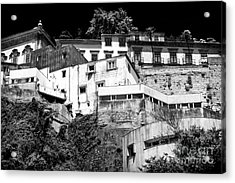 Houses On The Hill Acrylic Print by John Rizzuto