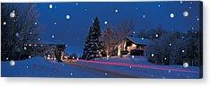 Houses Snowfall Nh Usa Acrylic Print