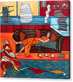 Housework Acrylic Print by Sandra Marie Adams