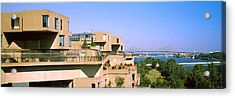 Housing Complex With A Bridge Acrylic Print by Panoramic Images
