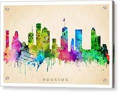 Houston Cityscape Acrylic Print