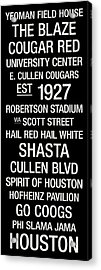 Houston College Town Wall Art Acrylic Print by Replay Photos