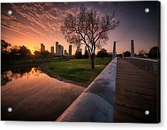 Houston Dawn Acrylic Print